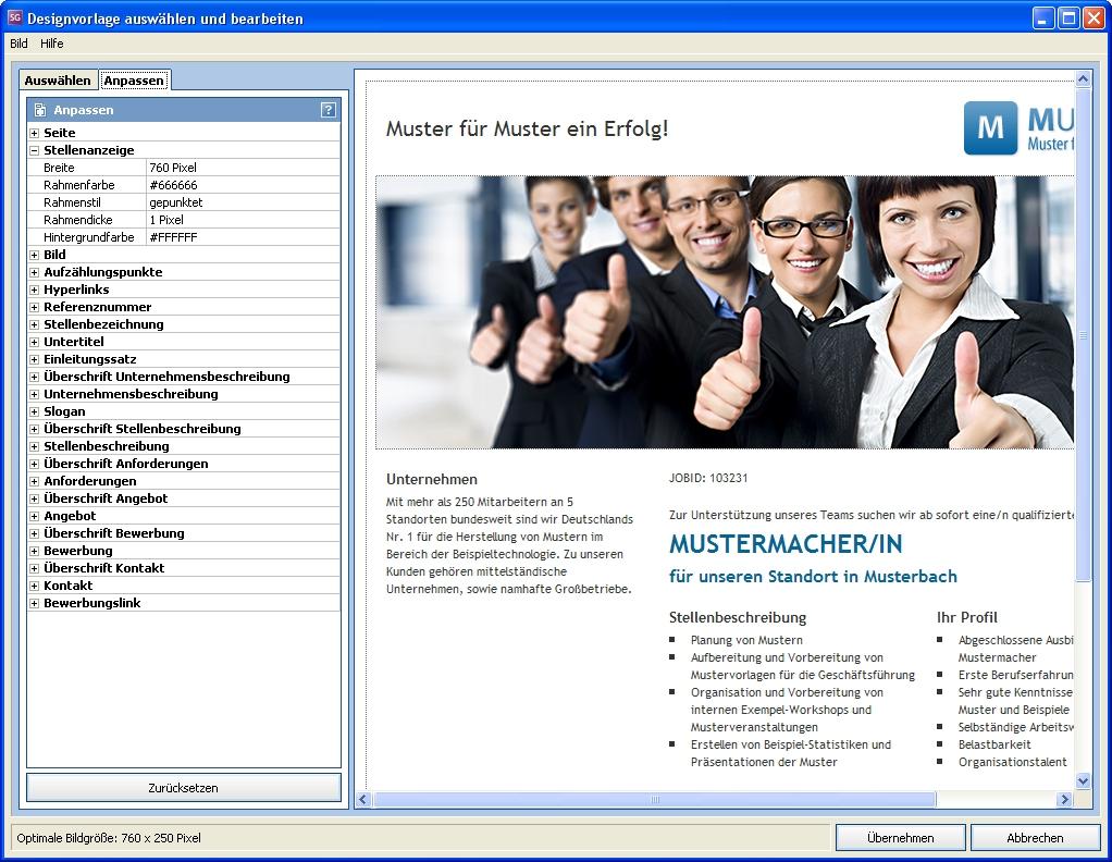 Hp Infomedia Stellenanzeigen Generator Screenshots